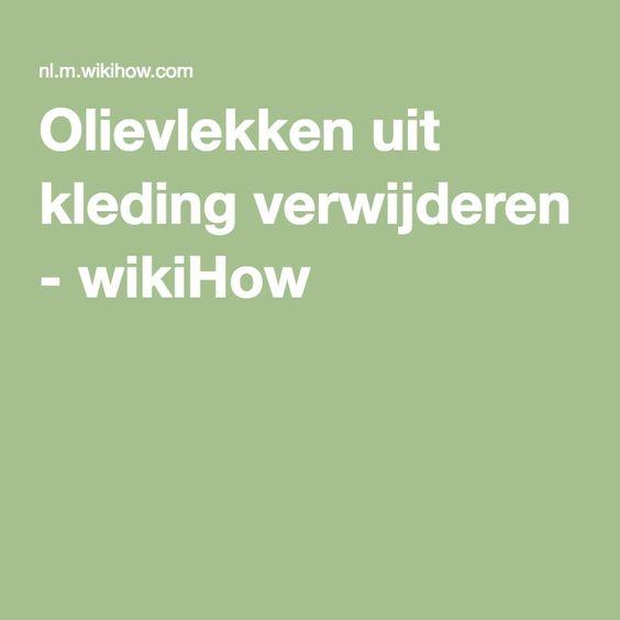 Olievlekken uit kleding verwijderen - wikiHow