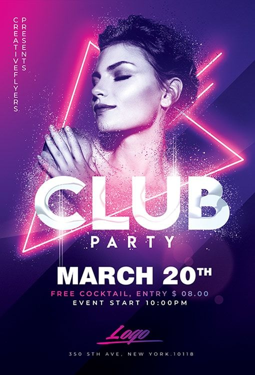 Club Party Flyer Templates Psd Party Flyer Free Psd Flyer