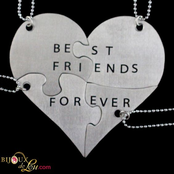 Stainless Steel Best Friends Forever 4-Piece Necklace Set ...