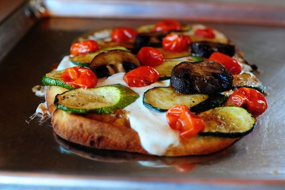 Easy Flatbread Pizza with Roasted Vegetables by Pioneer Woman