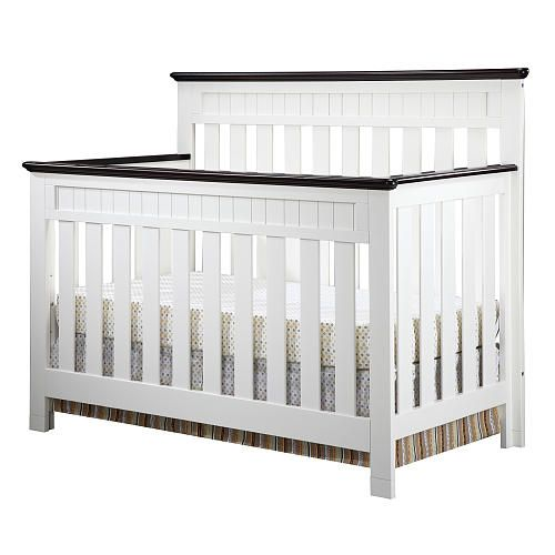 baby j 39 s crib delta chalet 4 in 1 lifetime crib white ambiance dark chocolate fairytale. Black Bedroom Furniture Sets. Home Design Ideas
