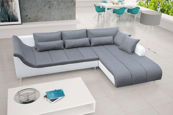 ECKSOFA #Couch ohne Schlaffunktion Eckcouch Polstergarnitur Wohnzimmer - AXE Seitenauswahl: Links oder Rechts. Farbkombination: Die Farbwiedergabe der gezeigten Farbmuster kann leicht von den tatsächlichen Farben abweichen.   #sofa #ecksofa #wohnzimmer #ziimmer #couch