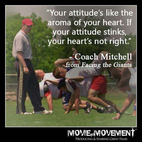 Facing the Giants just watched this movie again (for the first time in like 6 years)...and realized what i missed the first time watching it...