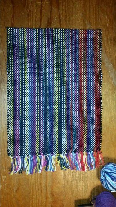Warp: multiple verigated yarns Weft: black 100% cotton