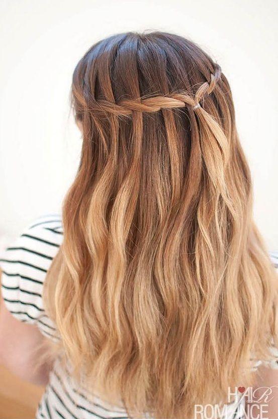 Guide To Make A Gorgeous Waterfall Braids In 15 Easy Steps With Videos In 2020 Medium Hair Braids Waterfall Braid Hair Styles
