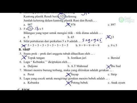 Soal Latihan Pts Kelas 3 Tema 2 Part 2 Jawaban