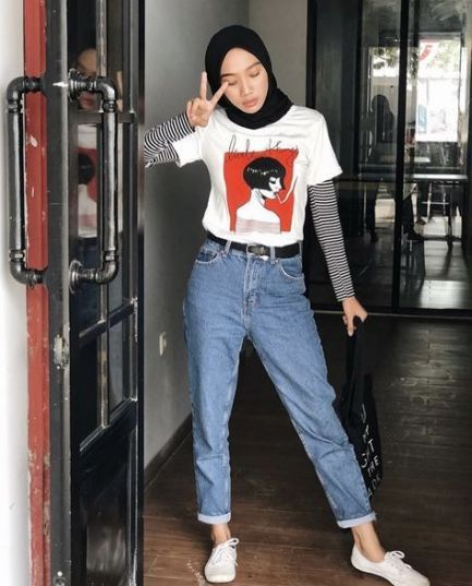 70 Best Ideas Style Vintage Outfits Hijab Hijabi Outfits Casual Street Hijab Fashion Casual Hijab Outfit