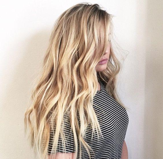 Blonde hair beach bleach highlights | h a i r | Pinterest ...