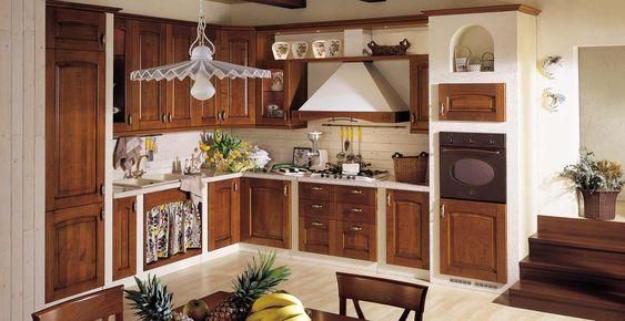 Cocina rustica pretil estufa empotrada horno separado - Puertas de cocina rusticas ...