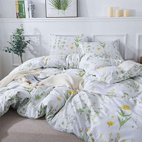 Duvet Cover Set Queen Full Floral Boho Hotel Bedding Sets Comforter Cover With Soft Lightweight Microfiber 1 Duvet Co Hotel Bedding Sets Duvet Cover Sets Bed