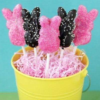 Easter: Easter Idea, Peeps Pop, Peeps Ideas, Peep Pop, Dipped Peep, Cake Pop, Covered Peep, Peeps Recipe, Easter Treats