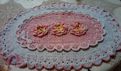 About Crochet: Tapete rosa