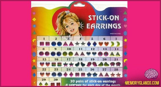 parents wouldn't allow me to pierce my ears until I turned 13! Thank goodness for stick-on earrings!