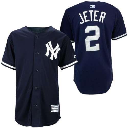 Men S Majestic New York Yankees 2 Derek Jeter Authentic Navy Blue Mlb Jersey New York Yankees Derek Jeter New York Yankees Shop