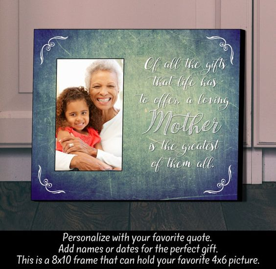 Personalized Picture Frame Mother  Mother's by TheLetterGiftShop