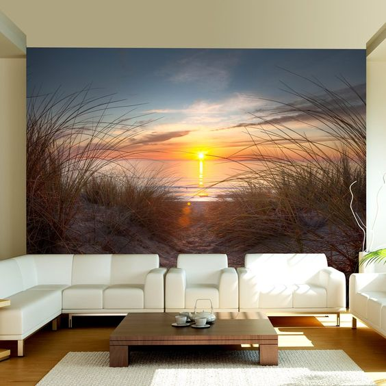 vlies fototapete 350x270 cm top tapete wandbilder xxl natur 100403 185 k che. Black Bedroom Furniture Sets. Home Design Ideas