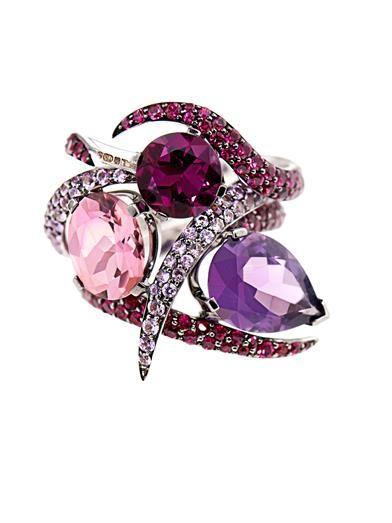 Amethyst, ruby, sapphire & gold ring set | Shaun Leane | MATCH...