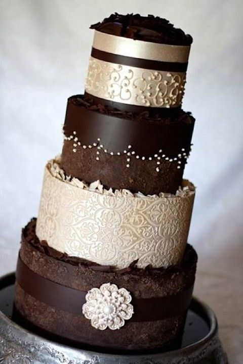 38 Cute Chocolate Brown Wedding Ideas | HappyWedd.com: