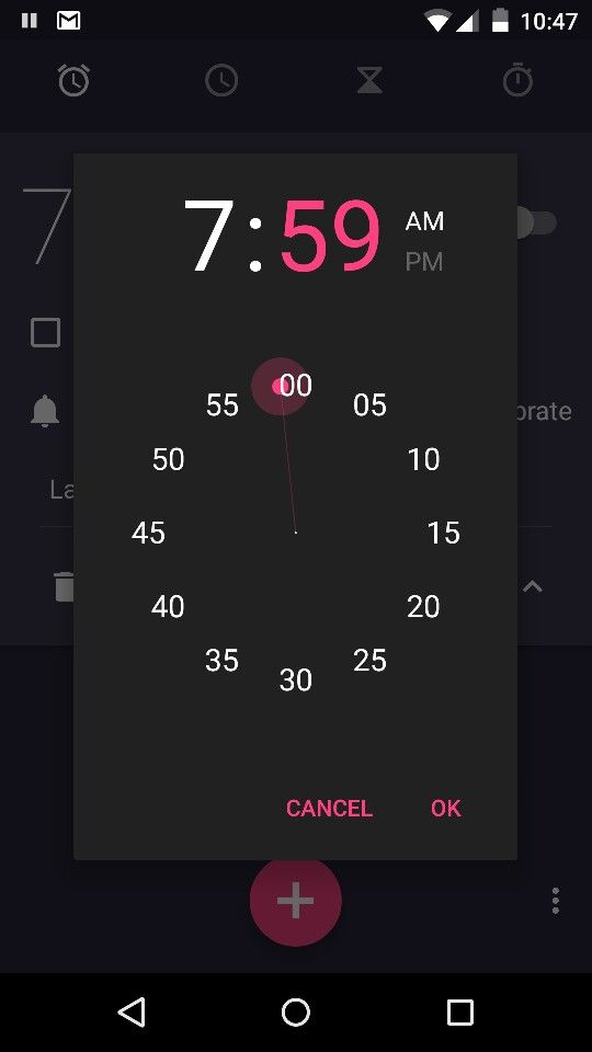 Android alarm - super easy to accidentally set your alarm 59 minutes later than you wanted.
