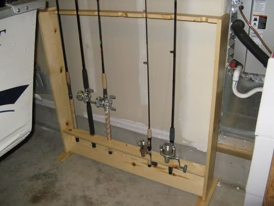 Fishing rod rack diy with pictures and steps www for Diy fishing pole rack