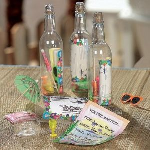 Luau -12 Message in a Bottle Tropical Invitations - Wholesale Luau Party Supplies by jrpartystore