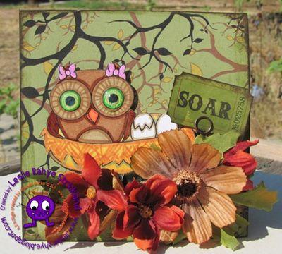 mama owl card made by @Leslie Rahye