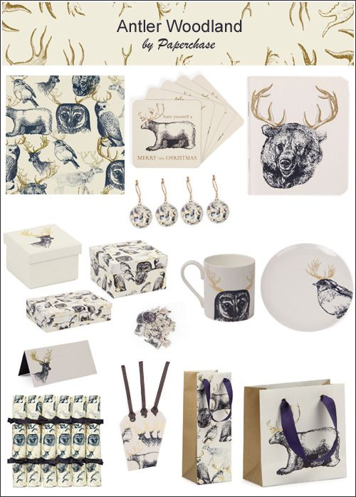 My Owl Barn: Paperchase: Antler Woodland Christmas Collection
