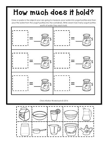 Number Names Worksheets : non standard measurement worksheets for ...