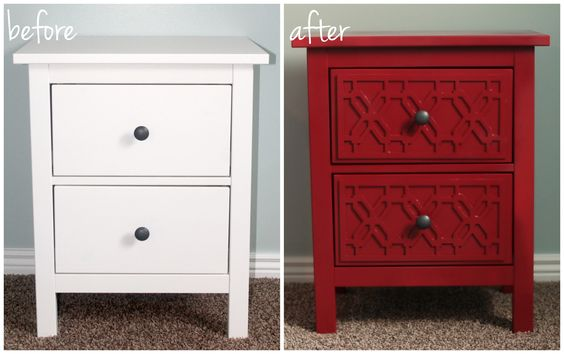 Ikea nightstand makeover with emperor 39 s silk chalk paint for Chalk paint muebles ikea
