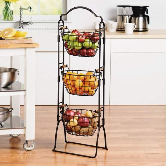Gourmet Basics Harbor 3-Tier Market Basket