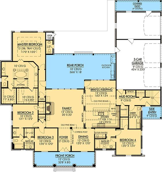 Plan 56367sm roomy french country home plan 3 car for Acadian house plans with bonus room