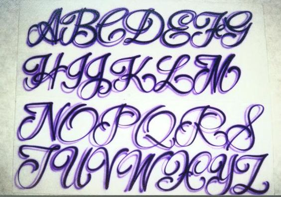 Girly Tattoo Alphabet Fonts Lettering Designs