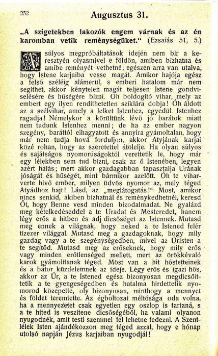 08.31. Spurgeon: Harmatsugarak...