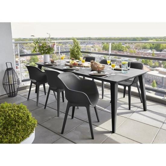Allibert Jardin Table Lima 240cm 6 A 10 Personnes Avec Allonge Graphite Chaise D Exterieur Chaise De Jardin Mobilier Jardin