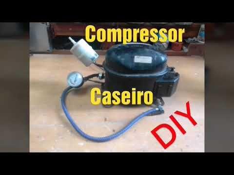 Como Fazer Compressor De Ar Com Motor De Geladeira Youtube