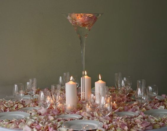 Wedding centerpiece ideas martini glass