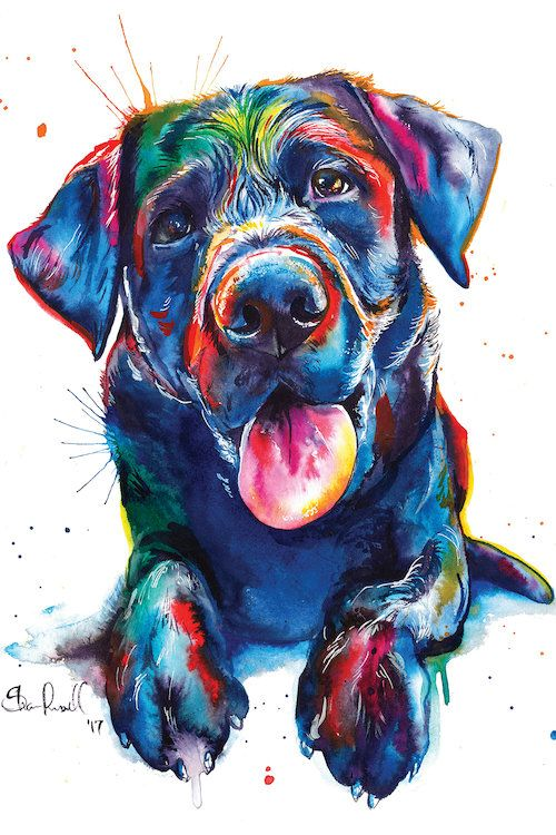 Black Lab Ii Canvas Wall Art By Weekday Best Dog Paintings Dog