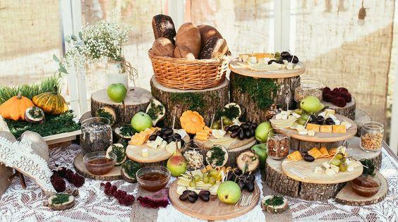 buffet pour mariage champêtre