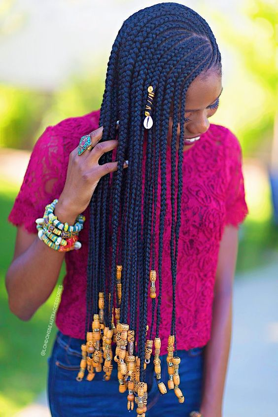 25 Cornrows With Beads For Adults New Natural Hairstyles Cornrows With Beads Cool Braid Hairstyles Braided Hairstyles For Teens