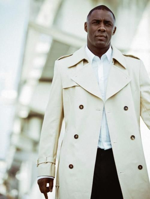 Men&39s style - the cream/white trench coat. (Gold buttons and a