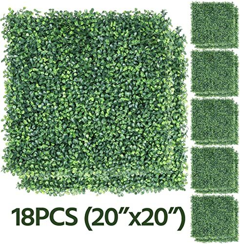 New Yaheetech 6 12 18pcs Artificial Boxwood Hedge Wall Panels Greenery Topiary Hedge Plant Privacy Hedge Screen Uv Protected Garden Home Fence Backyard D Cor In 2020 Artificial Boxwood Backyard Decor Boxwood Hedge Wall