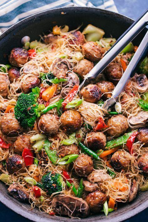 Teriyaki Meatball Stir Fry | The Food Cafe