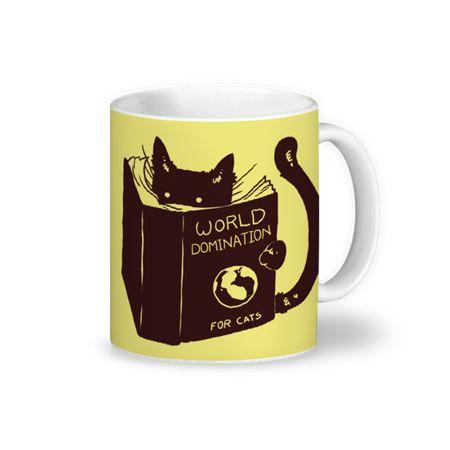 Caneca World Domination for Cats de @tobefonseca   Colab55