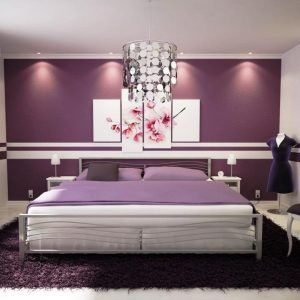 Purple And White Themed Bedrooms Purple Bedroom Decor Purple Bedroom Walls White Bedroom Design
