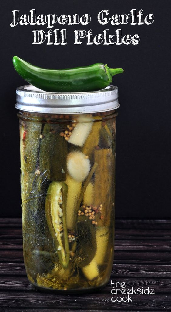 Jalapeno Garlic Dill Pickles on The Creekside Cook