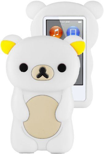HHI Silicone Skin Case for iPod Nano 7th Generation - White Bear (Package include a HandHelditems Sketch Stylus Pen) by Handhelditems, http://www.amazon.com/dp/B00AQPHXCC/ref=cm_sw_r_pi_dp_uuROrb0RSAMCM