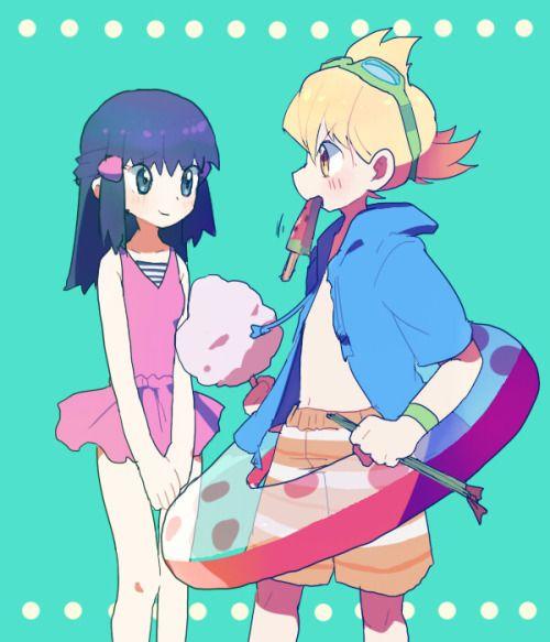Twinleafshipping♥♥ /ilustlate by Konoha kun