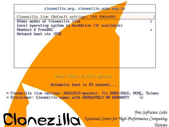 Oporavak (restore) sistema uz pomoć Clonezilla alata