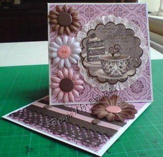 Crafty blog di Sandra: Carte Cavalletto intrecciati
