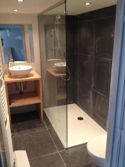 Grote inloopdouche in kleine badkamer bathroom pinterest met for Plan kleine badkamer